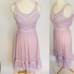 Vintage Lightweight Lavender Babydoll Dress